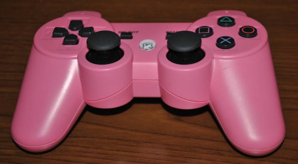 格安PS3のコントローラー(ピンク色)の写真