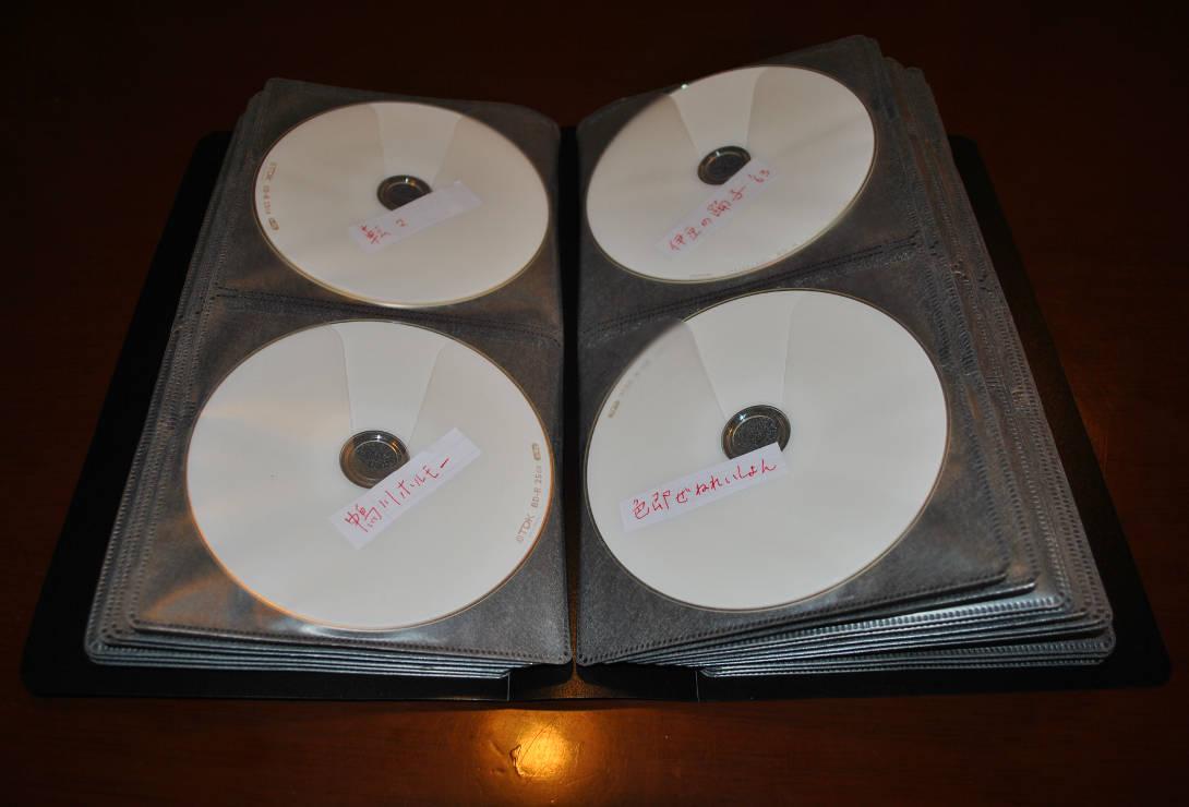 BD-Rケース「サンワサプライ FCD-FLBD64」にディスクを収納した様子