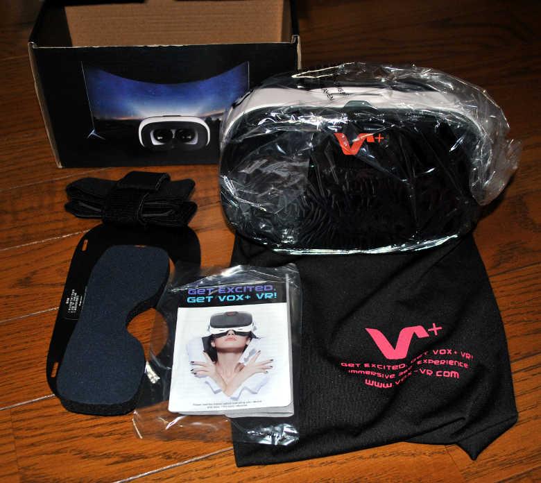 VOX gear+ 3DVRゴーグルの中身
