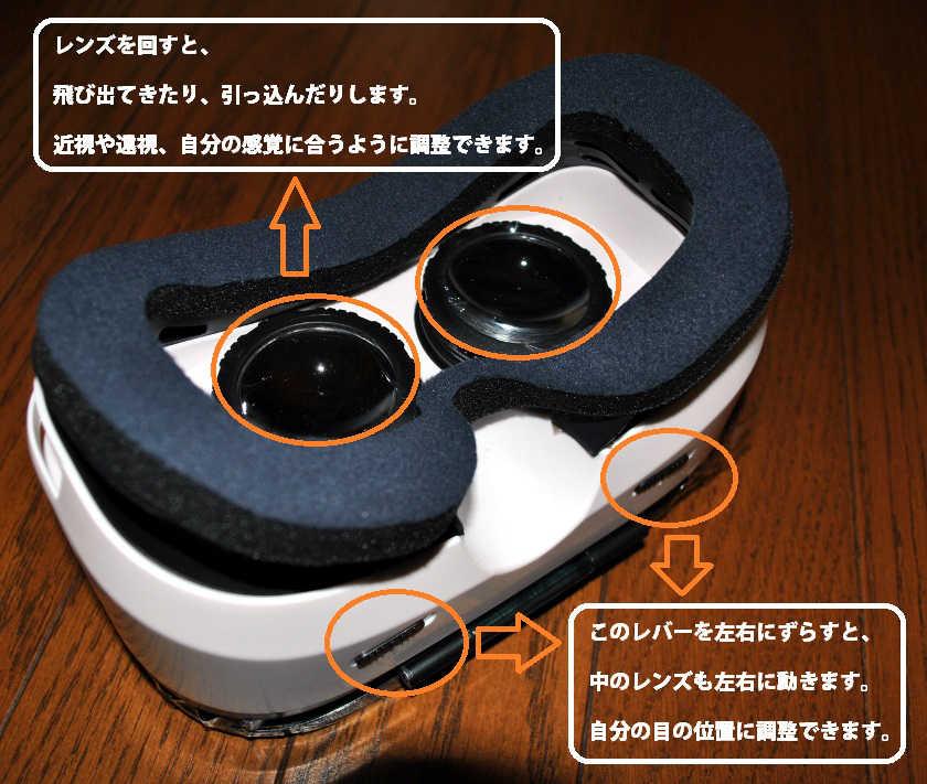 VOX gear+ 3DVRゴーグルの外観の説明1