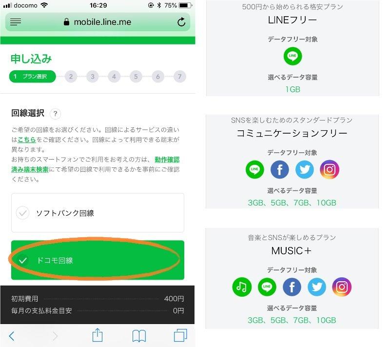 LINEモバイルの申し込み画面3