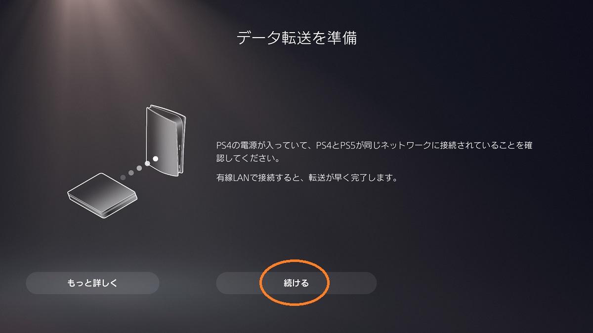 PS4からPS5へのセーブデータ移行12